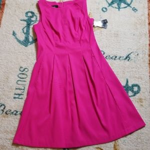 NWT Alyx Hot Pink Stretch Fit and Flair Dress 8